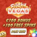 12 Freispiele bei Freaky Vegas Casino