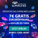 50 Freirunden bei Casino Superlines
