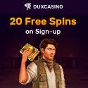 20 Gratis Freispiele bei Dux Casino